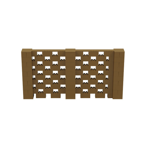 10' x 5' Gold Open Stagger Block Wall Kit