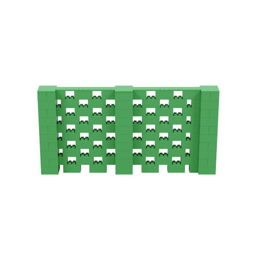 10' x 5' Green Open Stagger Block Wall Kit