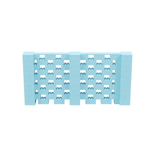 10' x 5' Light Blue Open Stagger Block Wall Kit
