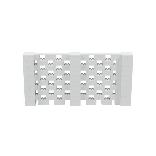 10' x 5' Light Gray Open Stagger Block Wall Kit