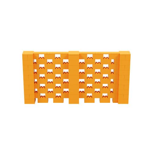 10' x 5' Orange Open Stagger Block Wall Kit