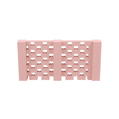 10' x 5' Pink Open Stagger Block Wall Kit