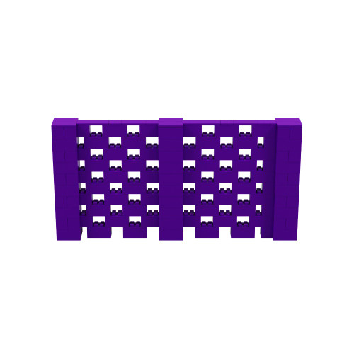 10' x 5' Purple Open Stagger Block Wall Kit