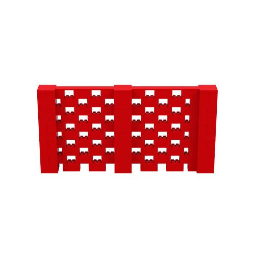 10' x 5' Red Open Stagger Block Wall Kit
