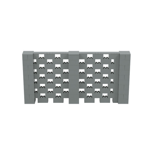 10' x 5' Silver Open Stagger Block Wall Kit