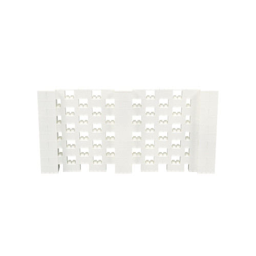 10' x 5' Translucent Open Stagger Block Wall Kit