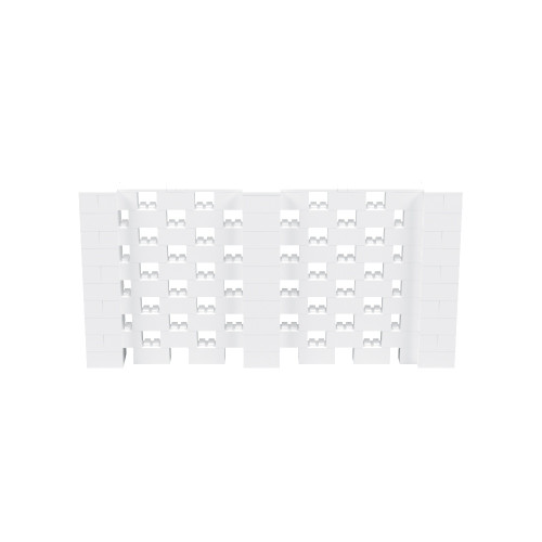 10' x 5' White Open Stagger Block Wall Kit