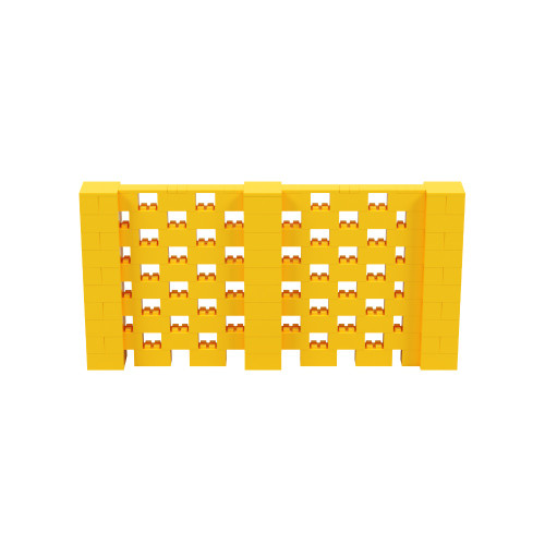 10' x 5' Yellow Open Stagger Block Wall Kit