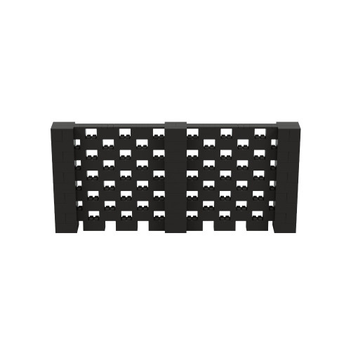 11' x 5' Black Open Stagger Block Wall Kit