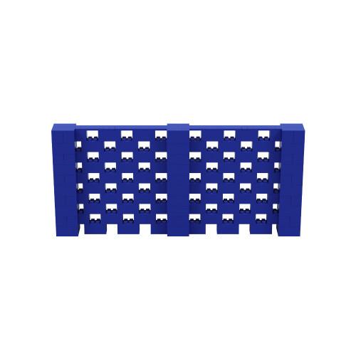 11' x 5' Blue Open Stagger Block Wall Kit