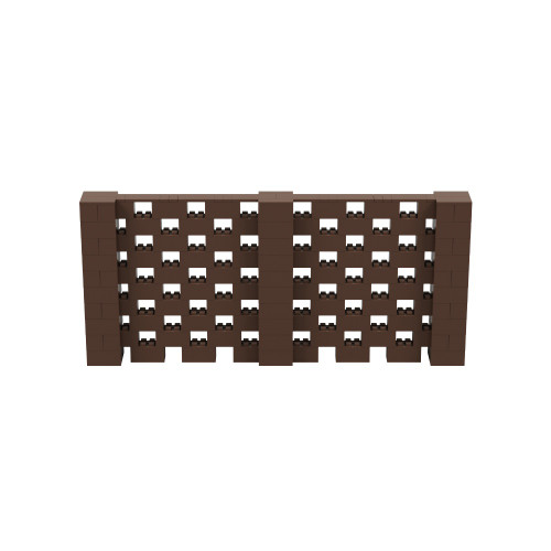 11' x 5' Brown Open Stagger Block Wall Kit