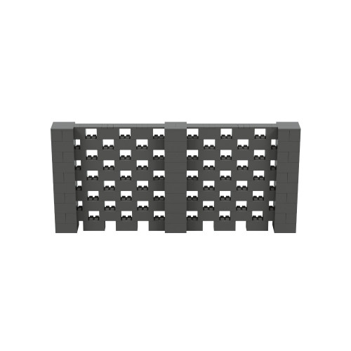 11' x 5' Dark Gray Open Stagger Block Wall Kit