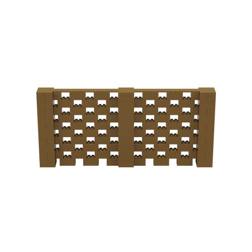 11' x 5' Gold Open Stagger Block Wall Kit