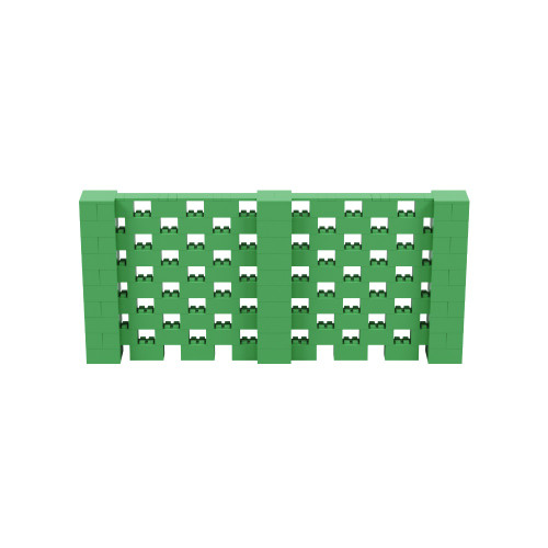 11' x 5' Green Open Stagger Block Wall Kit