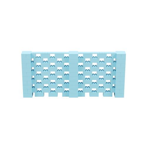 11' x 5' Light Blue Open Stagger Block Wall Kit