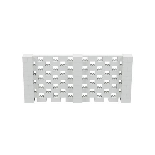 11' x 5' Light Gray Open Stagger Block Wall Kit