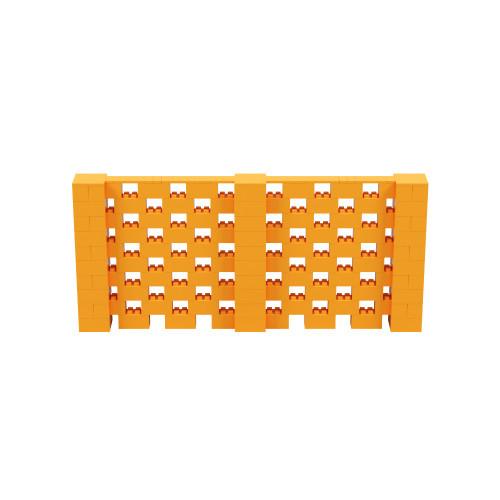 11' x 5' Orange Open Stagger Block Wall Kit