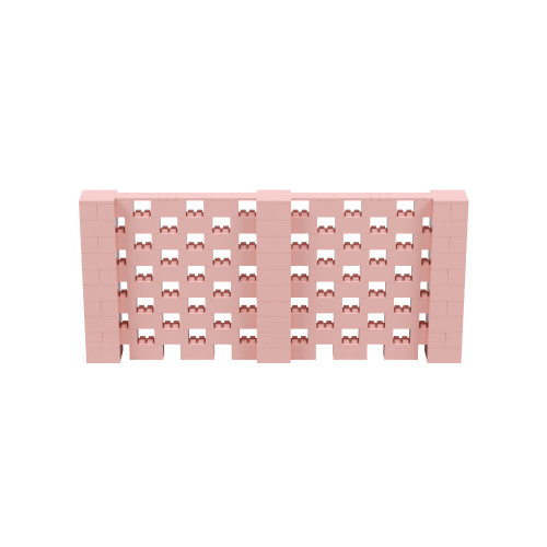 11' x 5' Pink Open Stagger Block Wall Kit