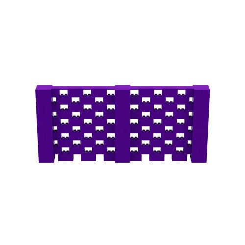 11' x 5' Purple Open Stagger Block Wall Kit