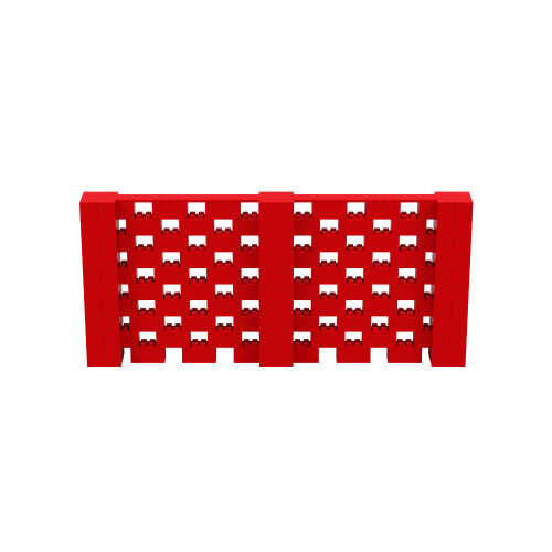 11' x 5' Red Open Stagger Block Wall Kit