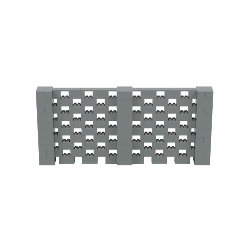 11' x 5' Silver Open Stagger Block Wall Kit