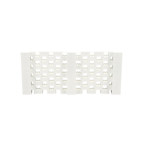 11' x 5' Translucent Open Stagger Block Wall Kit