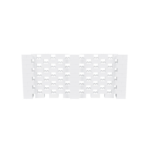 11' x 5' White Open Stagger Block Wall Kit