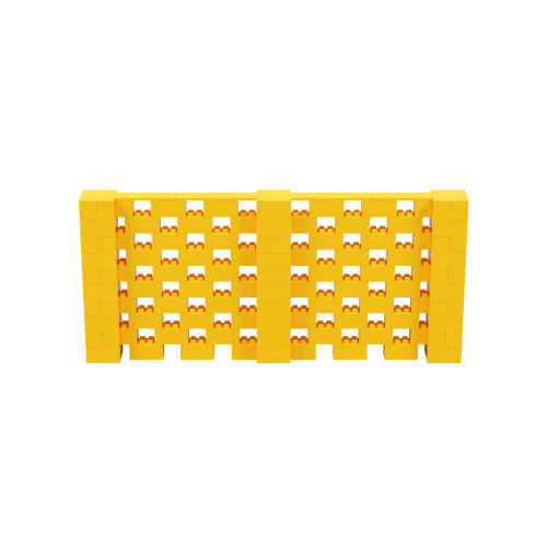 11' x 5' Yellow Open Stagger Block Wall Kit
