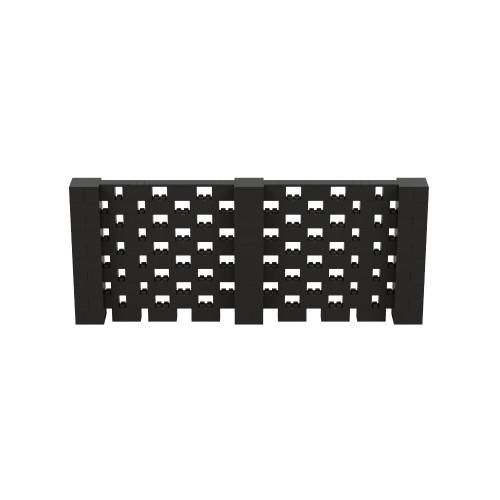 12' x 5' Black Open Stagger Block Wall Kit