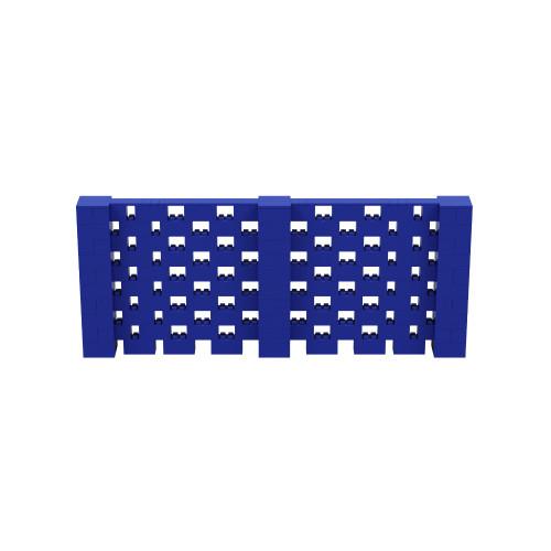 12' x 5' Blue Open Stagger Block Wall Kit