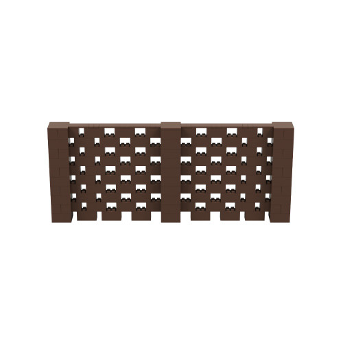 12' x 5' Brown Open Stagger Block Wall Kit