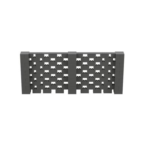 12' x 5' Dark Gray Open Stagger Block Wall Kit