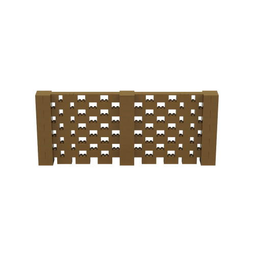 12' x 5' Gold Open Stagger Block Wall Kit