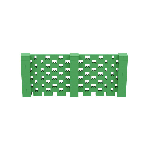 12' x 5' Green Open Stagger Block Wall Kit