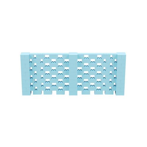 12' x 5' Light Blue Open Stagger Block Wall Kit