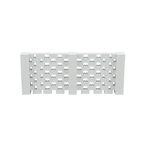 12' x 5' Light Gray Open Stagger Block Wall Kit
