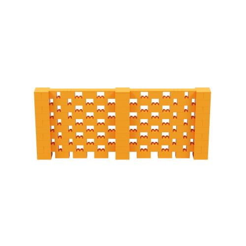 12' x 5' Orange Open Stagger Block Wall Kit