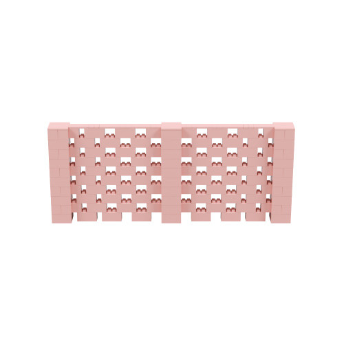 12' x 5' Pink Open Stagger Block Wall Kit