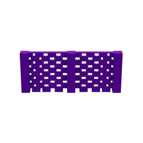 12' x 5' Purple Open Stagger Block Wall Kit