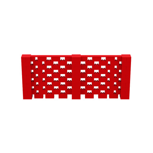 12' x 5' Red Open Stagger Block Wall Kit