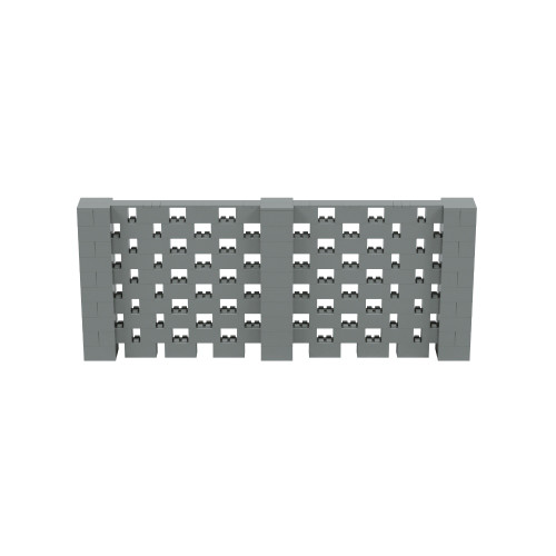 12' x 5' Silver Open Stagger Block Wall Kit