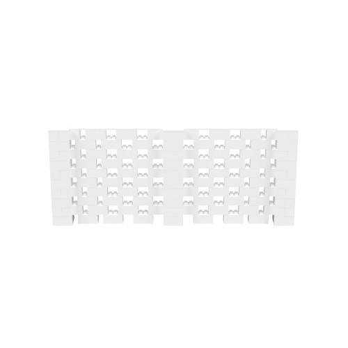 12' x 5' White Open Stagger Block Wall Kit