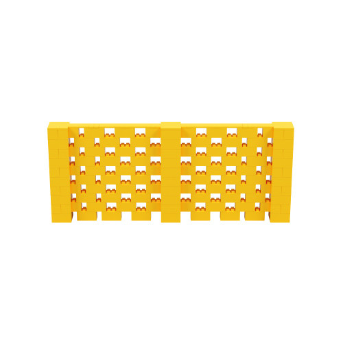 12' x 5' Yellow Open Stagger Block Wall Kit