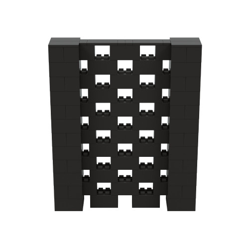 5' x 6' Black Open Stagger Block Wall Kit