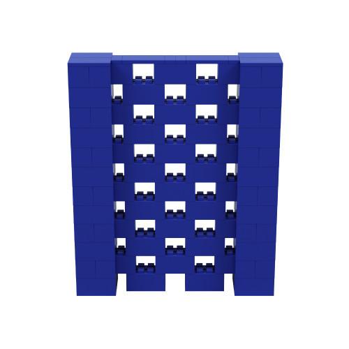 5' x 6' Blue Open Stagger Block Wall Kit