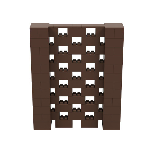 5' x 6' Brown Open Stagger Block Wall Kit