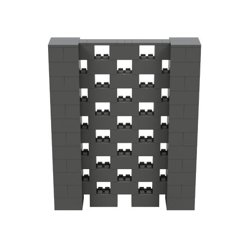 5' x 6' Dark Gray Open Stagger Block Wall Kit