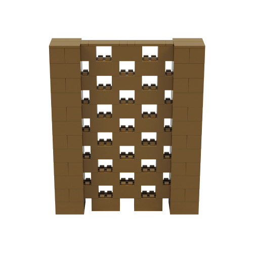 5' x 6' Gold Open Stagger Block Wall Kit