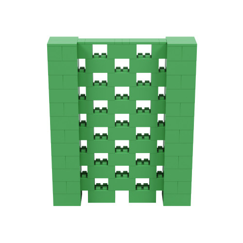 5' x 6' Green Open Stagger Block Wall Kit