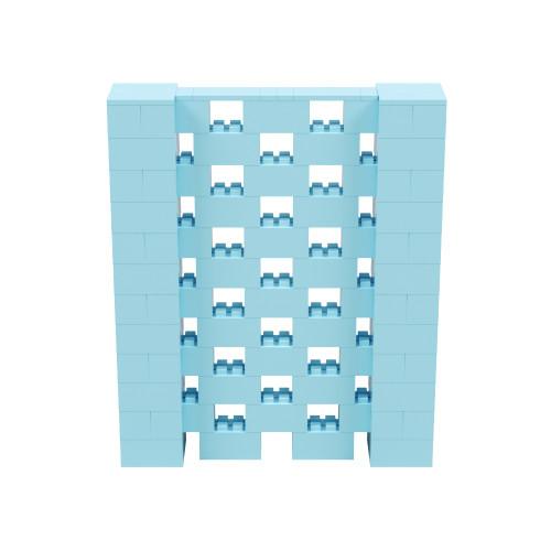 5' x 6' Light Blue Open Stagger Block Wall Kit